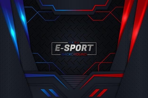 Estilo de fundo vermelho e azul de e-sports