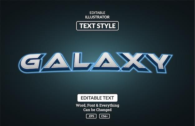 Estilo de galáxia espacial, efeito de texto editável