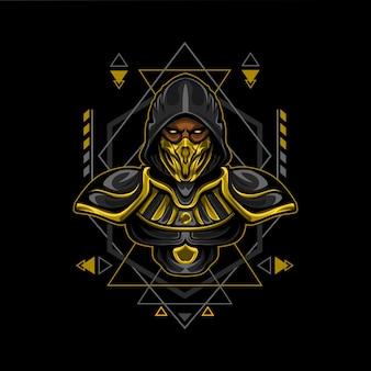 Estilo de geometria de assassino de ouro