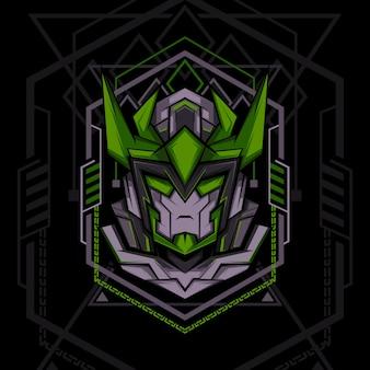 Estilo de geometria verde escuro ranger
