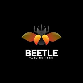 Estilo de gradiente de besouro de logotipo.