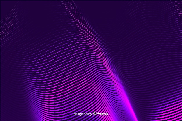 Estilo de gradiente de fundo de efeito de meio-tom
