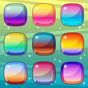 Estilo de gradiente quadrado de cores que é brilhante e brilhante