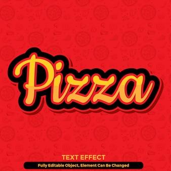 Estilo de gráfico de efeito de texto de restaurante