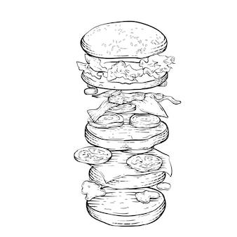 Estilo de gravação de hambúrguer