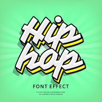 Estilo de hip hop old school letras efeito de texto para a cultura de rua