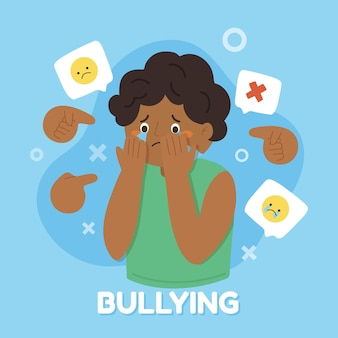 Estilo de ilustração de bullying