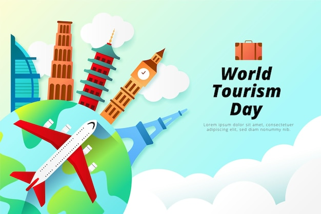 Estilo de ilustração do dia mundial do turismo