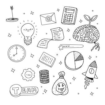 Estilo de inicialização do doodle. estilo de desenho de mão inicial