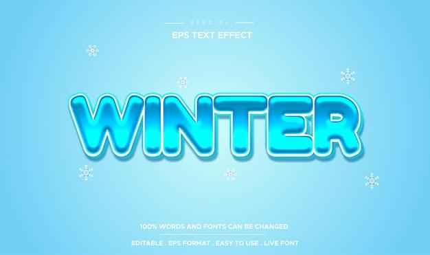 Estilo de inverno com efeito de texto editável