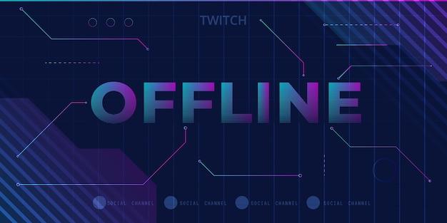 Estilo de jogador de banner de contração offline de tecnologia