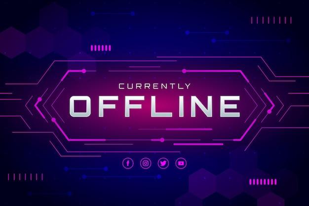 Estilo de jogador de banner de contração offline