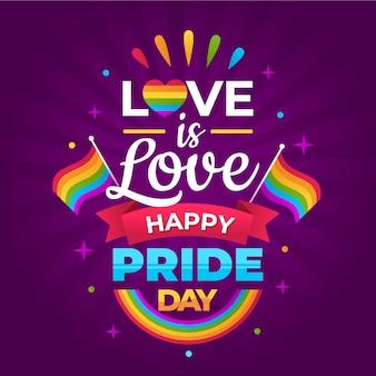 Estilo de letras do dia do orgulho