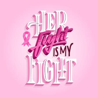 Estilo de letras do mês de conscientização do câncer de mama
