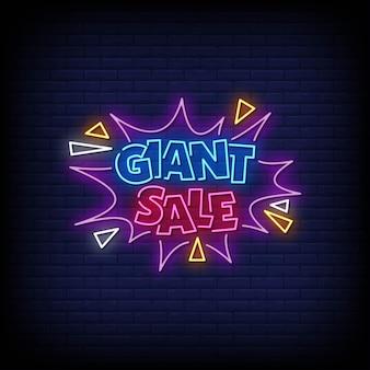 Estilo de letreiros de néon de venda gigante