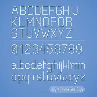 Estilo de linha do alfabeto.