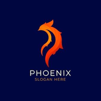 Estilo de logotipo de pássaro phoenix