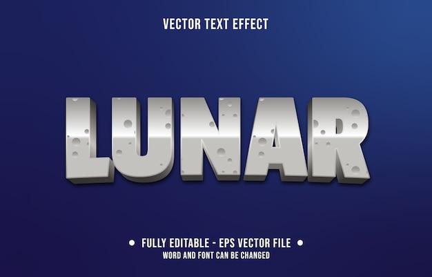 Estilo de lua lunar com efeito de texto editável