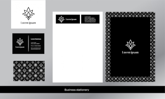 Estilo de luxo. estilo preto e branco o logotipo está na forma de uma folha de cannabis e uma gota. minimalismo elegante. Vetor Premium
