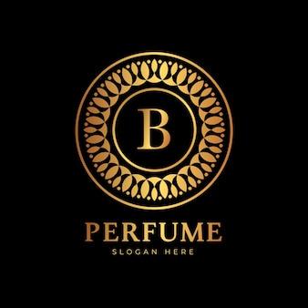 Estilo de luxo para o logotipo do perfume
