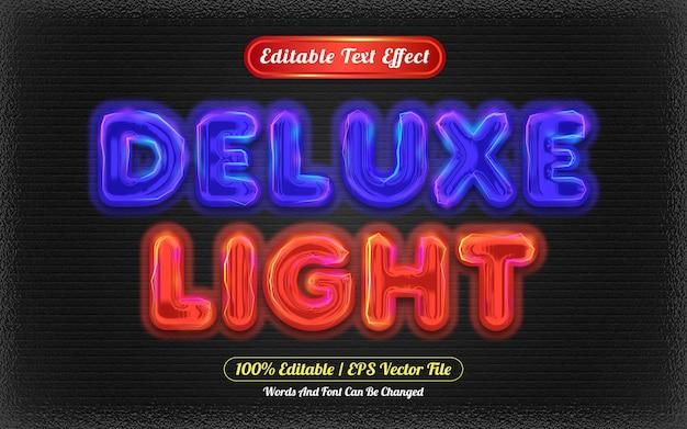 Estilo de luz de efeito de texto editável deluxe