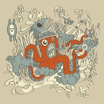 Estilo de mão desenhada doodle