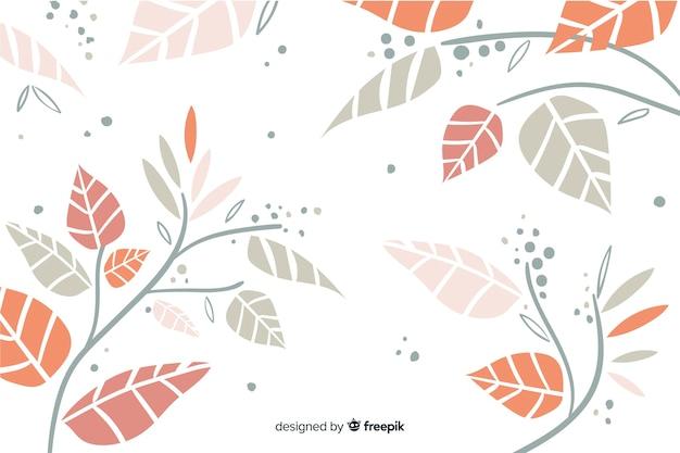 Estilo de mão desenhada outono fundo