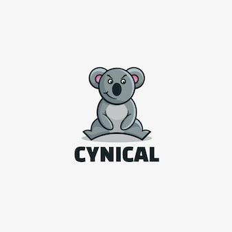 Estilo de mascote simples cínico de logotipo.