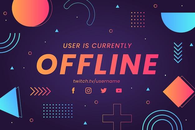 Estilo de memphis de banner de contração offline