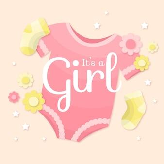 Estilo de menina de chuveiro de bebê