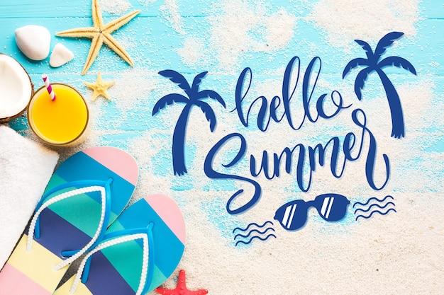 Estilo de mensagem de letras de verão