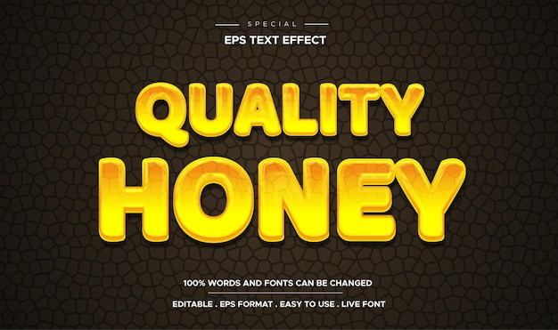 Estilo de modelo 3d de efeito de texto de mel líquido editável