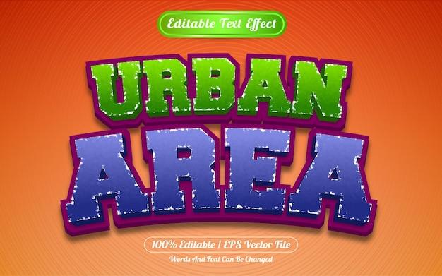 Estilo de modelo de área urbana de efeito de texto editável