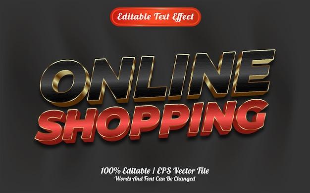 Estilo de modelo de compra on-line com efeito de texto editável