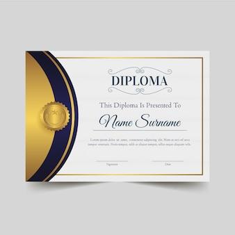 Estilo de modelo de diploma
