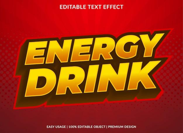 Estilo de modelo de efeito de texto de bebida energética