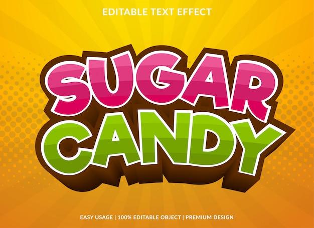 Estilo de modelo de efeito de texto de doces de açúcar