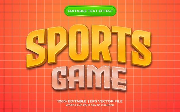 Estilo de modelo de efeito de texto de jogo de esportes