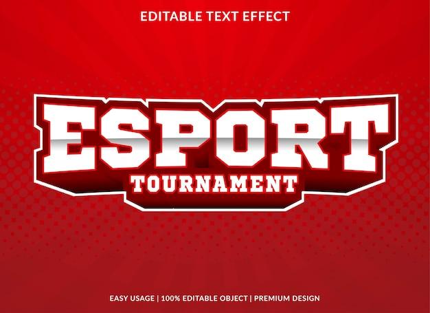 Estilo de modelo de efeito de texto de torneio esport