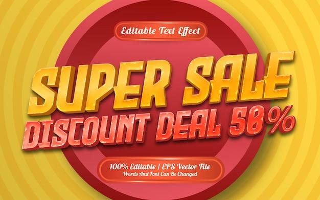 Estilo de modelo de efeito de texto de venda especial
