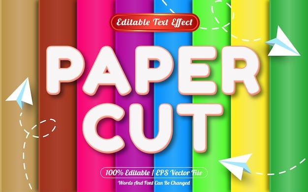 Estilo de modelo de efeito de texto editável com corte de papel