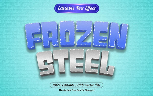 Estilo de modelo de efeito de texto editável congelado