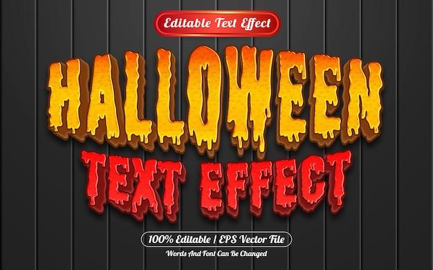 Estilo de modelo de efeito de texto editável de halloween