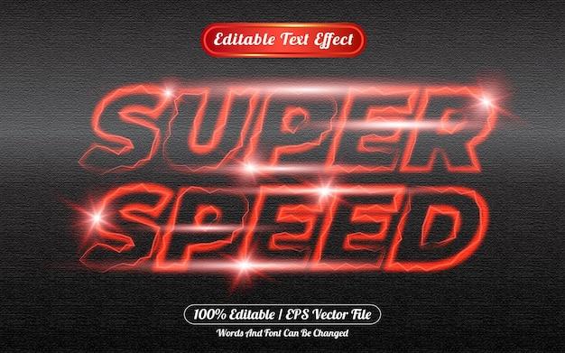 Estilo de modelo de efeito de texto editável de supervelocidade