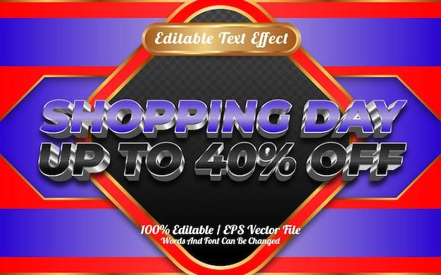 Estilo de modelo de efeito de texto editável do dia de compras online