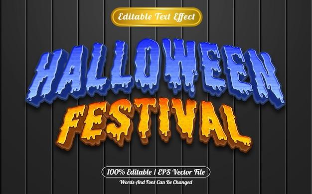 Estilo de modelo de efeito de texto editável do festival de halloween
