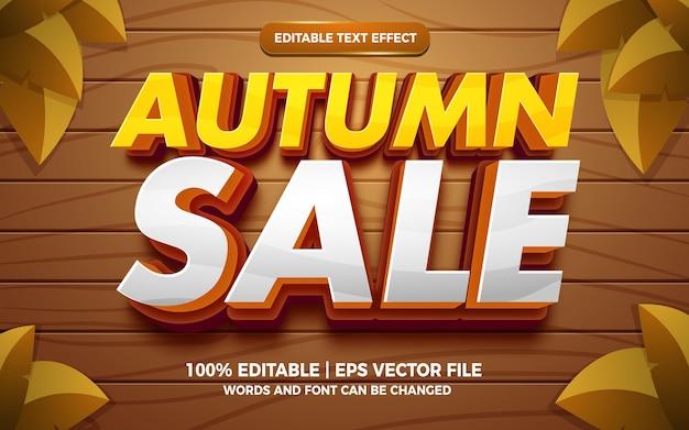 Estilo de modelo de efeito de texto editável em quadrinhos de quadrinhos para venda de outono