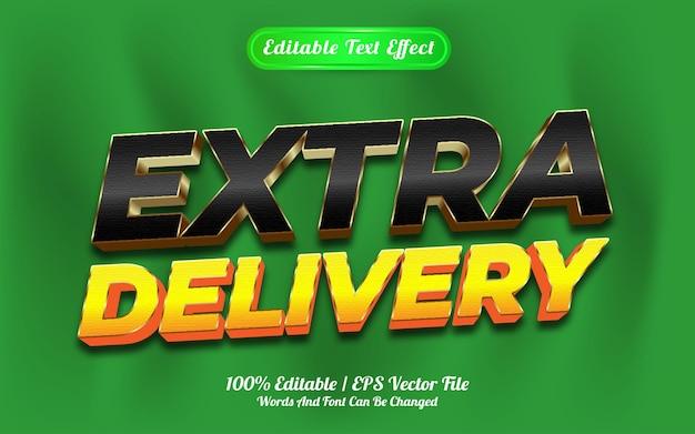 Estilo de modelo de entrega extra de efeito de texto editável
