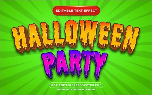 Estilo de modelo de festa de halloween com efeito de texto editável