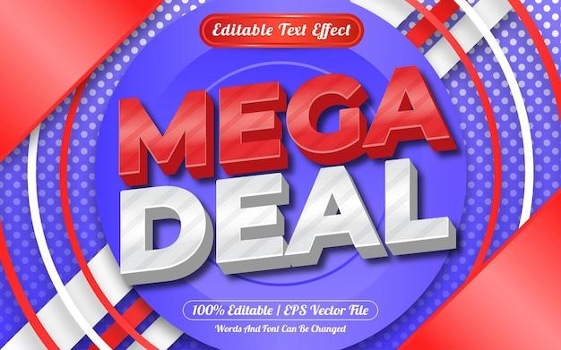 Estilo de modelo de mega negócio com efeito de texto editável